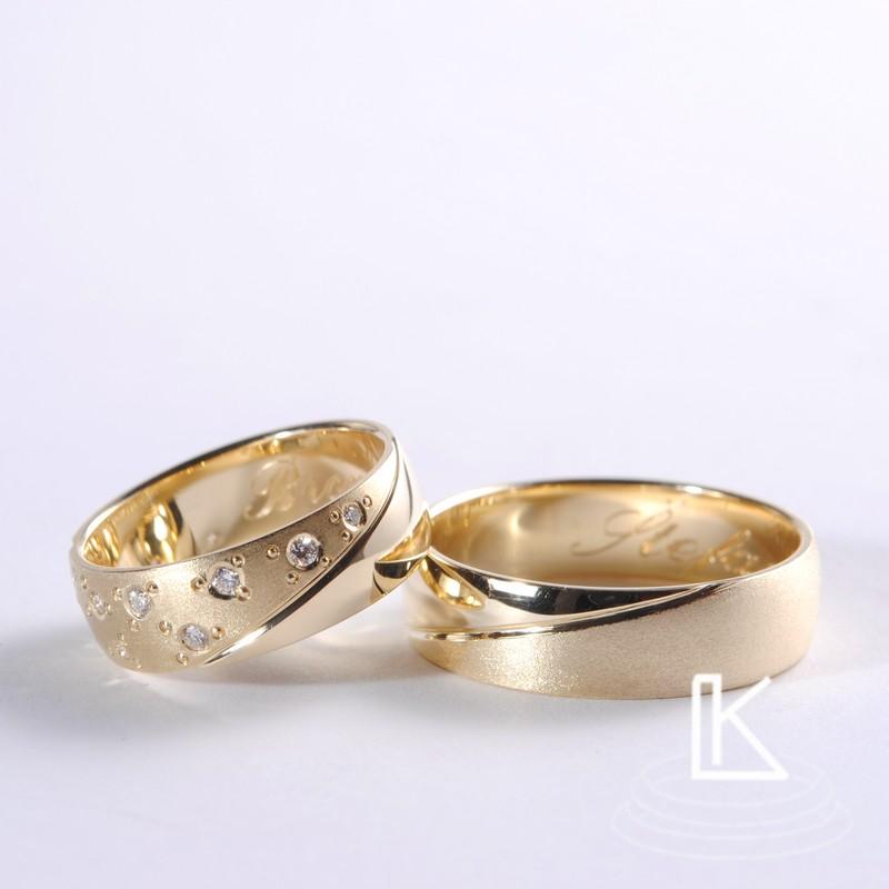 snubní prsteny vyrobené podle představ zákazníka