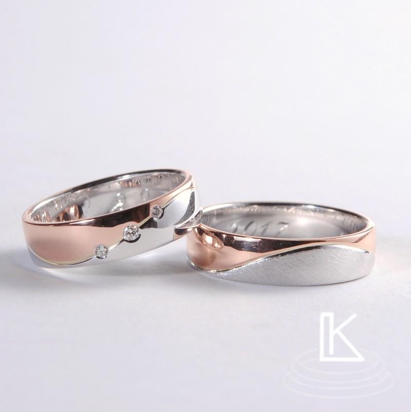 Snubní prsteny s vlnkou