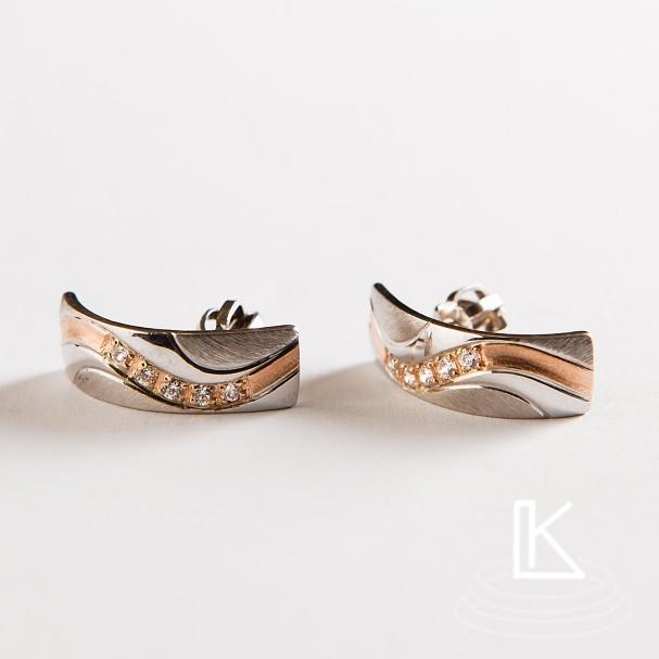 náušnice k snubním prstenům č.20