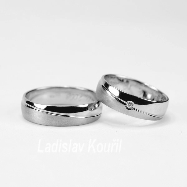 Snubní prsteny č. 16  jednoduchého designu