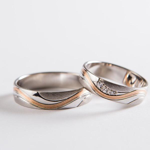 Snubní prsteny č. 3 z bílého zlata